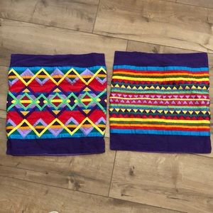 Set of two patterned pillow cases
